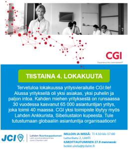 JCI Lahti: Yritysvierailu CGI @ Lahden satama | Lahti | Suomi